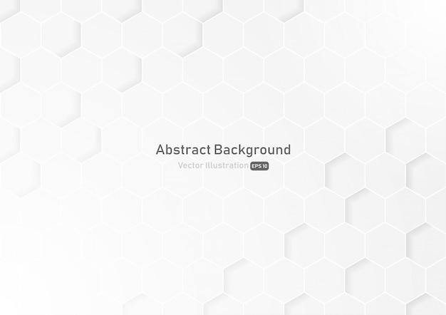 Abstrakcjonistycznego Honeycomb Biały I Szary Tło. Premium Wektorów