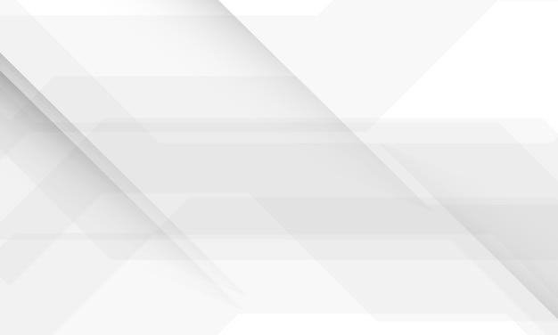 Abstrakcjonistycznego Tekstury Tła Białej I Szarej Technologii Geometryczna Technologia Nowożytna. Premium Wektorów
