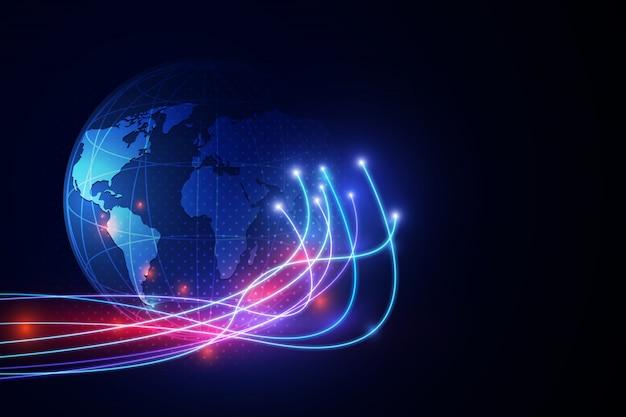 Abstrakcjonistycznej Technologii Tła Pojęcia Innowaci Komunikacyjna Sieć. Premium Wektorów