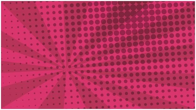 Abstrakcjonistycznej wiśni pasiasty retro komiczny tło Premium Wektorów