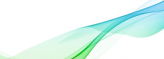 Abstrakcjonistyczny Bieżący Kolorowy Falowy Sztandar Na Białym Tle Darmowych Wektorów
