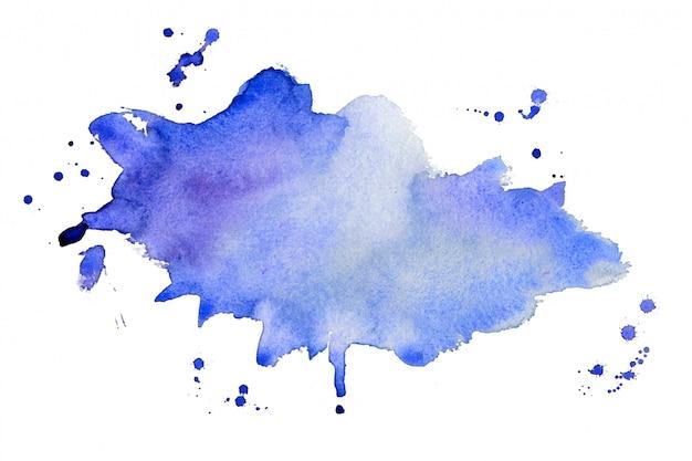 Abstrakcjonistyczny Błękitny Akwareli Pluśnięcia Tekstury Tło Darmowych Wektorów