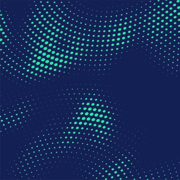 Abstrakcjonistyczny błękitny halftone kropkuje tło Darmowych Wektorów