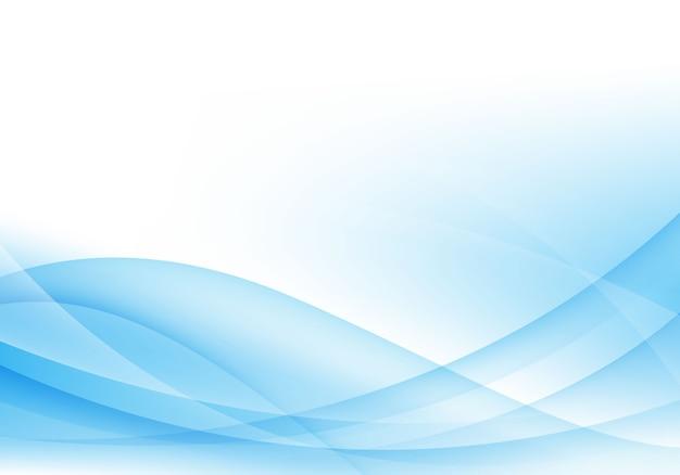 Abstrakcjonistyczny Błękitny I Biały Falowy Tło Premium Wektorów