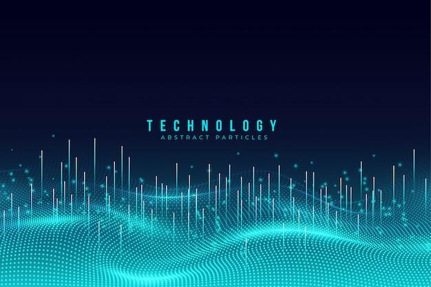 Abstrakcjonistyczny błękitny technologii cząsteczek tło Premium Wektorów
