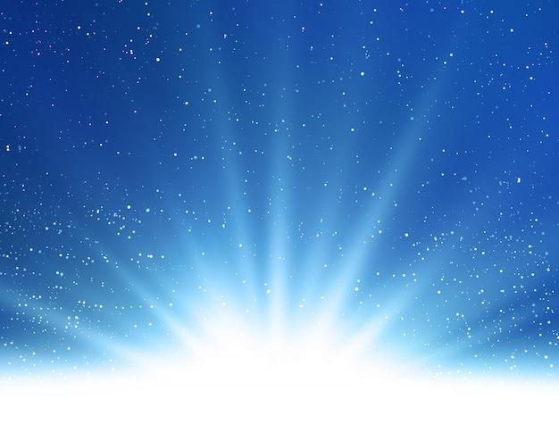 Abstrakcjonistyczny Błyszczący Magiczny Błękita światła Tło Premium Wektorów
