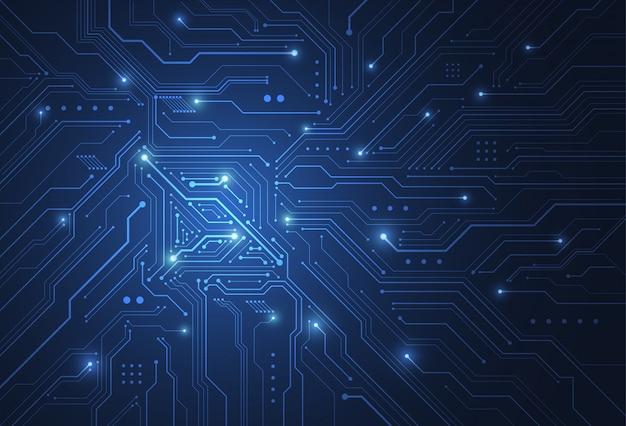 Abstrakcjonistyczny Cyfrowy Tło Z Technologii Obwodu Deski Teksturą Premium Wektorów