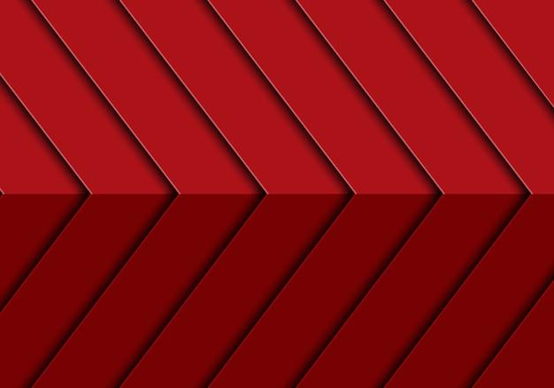 Abstrakcjonistyczny czerwony strzała 3d wzoru projekta tła nowożytny futurystyczny wektor. Premium Wektorów