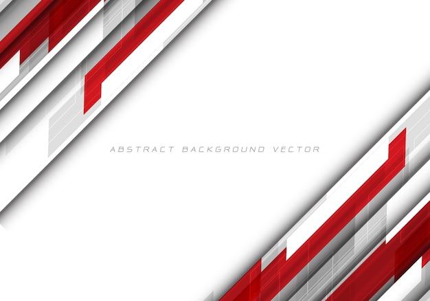 Abstrakcjonistyczny czerwony szary wielobok na białym pustej przestrzeni projekcie Premium Wektorów