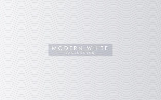 Abstrakcjonistyczny Falisty Tekstura Bielu Tło Premium Wektorów