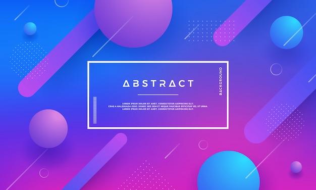 Abstrakcjonistyczny geometryczny gradientowy kształta wektoru tło. Premium Wektorów