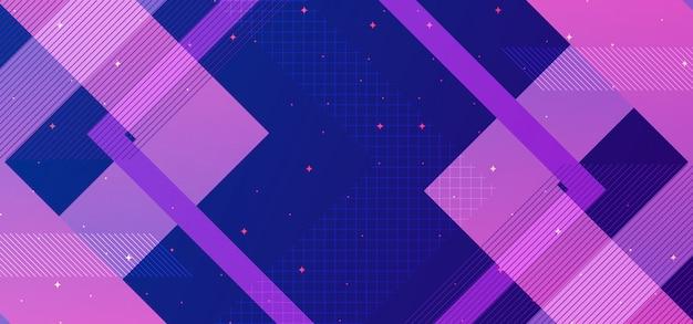 Abstrakcjonistyczny geometryczny tła pojęcie z błękitem i purpurami Premium Wektorów