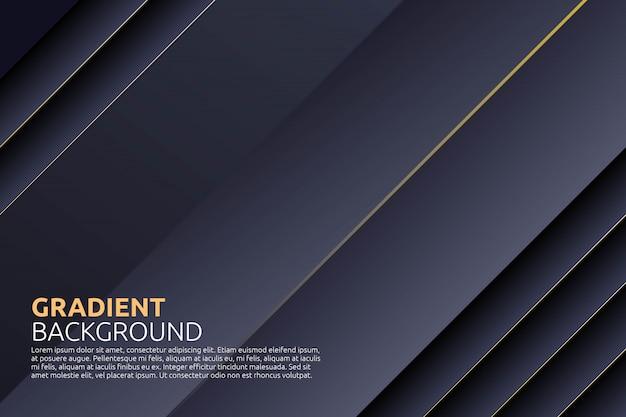 Abstrakcjonistyczny geometryczny z stipe stylem w czarnym tle Premium Wektorów