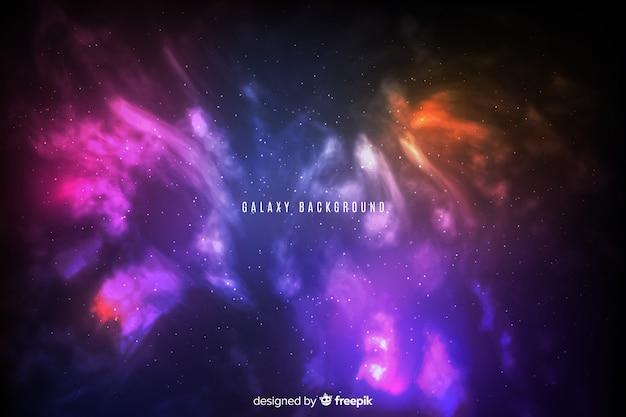 Abstrakcjonistyczny Gradientowy Jaskrawy Galaktyki Tło Darmowych Wektorów