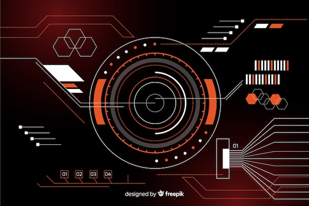 Abstrakcjonistyczny hud technologii czerni tło Darmowych Wektorów