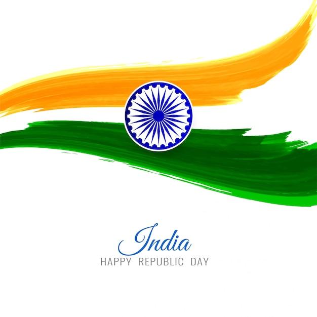 Abstrakcjonistyczny indianin flaga tematu tricolor tło Darmowych Wektorów