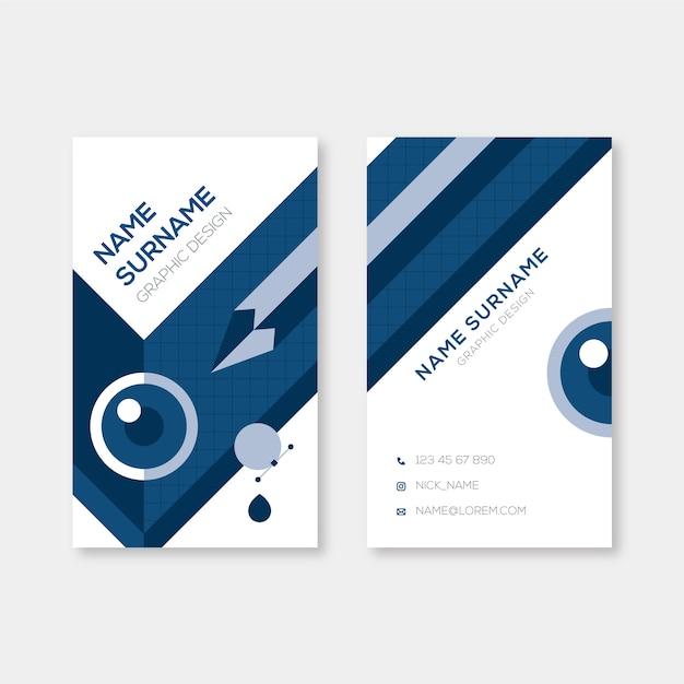 Abstrakcjonistyczny Klasyczny Błękitny Wizytówka Szablon Darmowych Wektorów