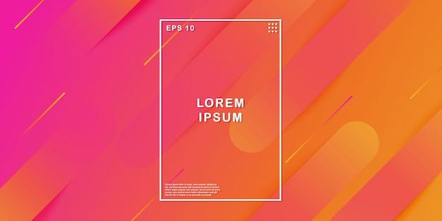 Abstrakcjonistyczny kolorowy gradientowy geometryczny tło Premium Wektorów