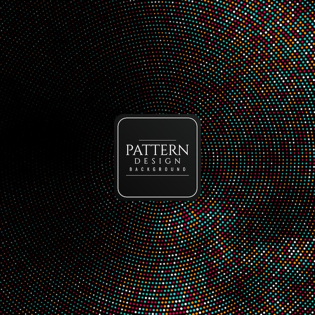 Abstrakcjonistyczny Kolorowy Halftone Wzoru Tło Darmowych Wektorów