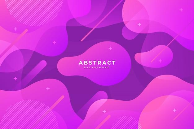 Abstrakcjonistyczny kolorowy przepływ kształtuje tło Premium Wektorów