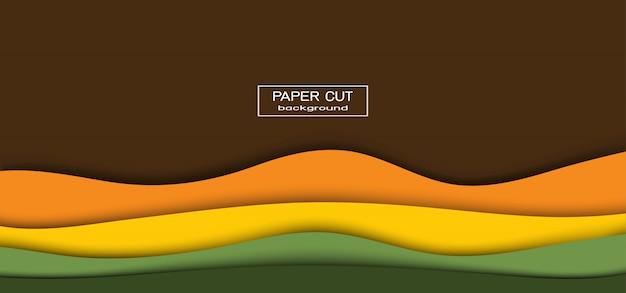 Abstrakcjonistyczny Kolorowy Tło W Tnącej Sztuce Premium Wektorów