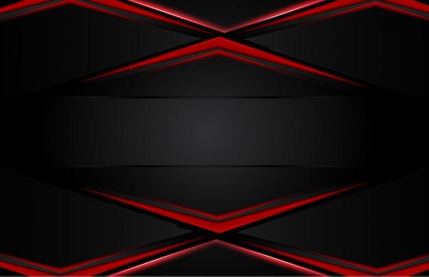 Abstrakcjonistyczny kruszcowy czerwony czarny tło Premium Wektorów