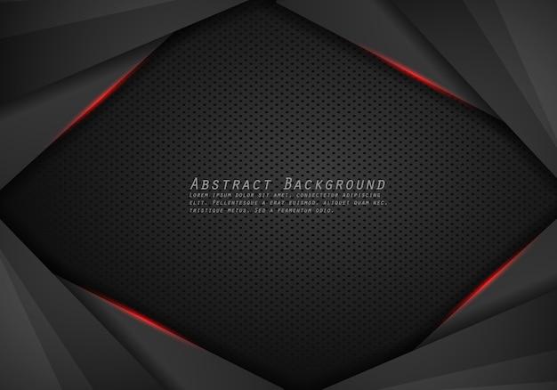 Abstrakcjonistyczny Kruszcowy Nowożytny Czerwony Czerni Ramy Projekta Innowaci Pojęcia Układu Tło. Premium Wektorów