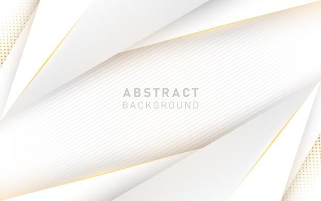 Abstrakcjonistyczny Luksusowy Biały I żółty Tło. Premium Wektorów