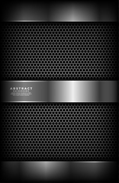 Abstrakcjonistyczny Metal Z Srebnego Talerza Tłem Premium Wektorów