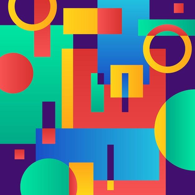 Abstrakcjonistyczny nowożytny błękit z geometrycznymi przedmiotami Darmowych Wektorów