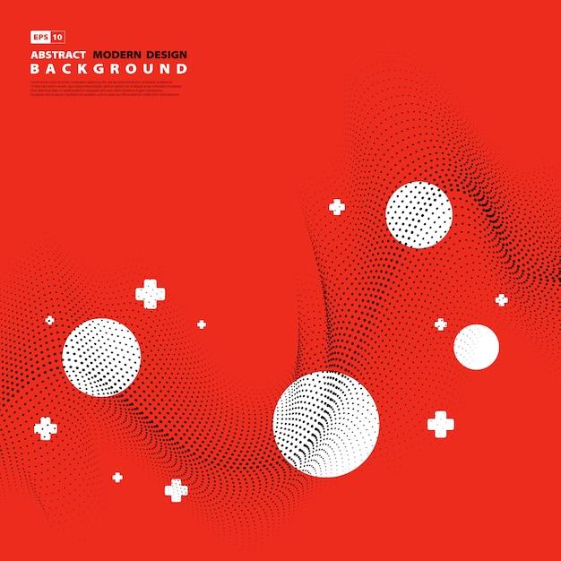 Abstrakcjonistyczny Nowożytny Projekta Wzoru Linii Dekoraci Kropki Projekt. Premium Wektorów