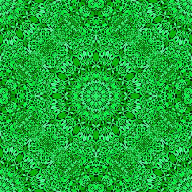 Abstrakcjonistyczny orientalny bezszwowy zielony mandala wzoru tło Premium Wektorów
