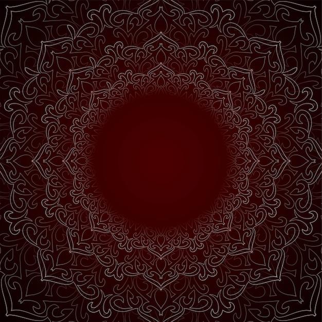 Abstrakcjonistyczny Piękny Dekoracyjny Mandala Tło Darmowych Wektorów