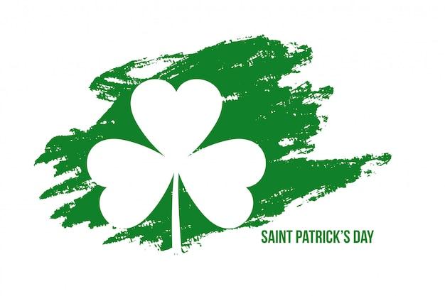 Abstrakcjonistyczny St Patricks Dnia Grunge Stylu Tło Darmowych Wektorów
