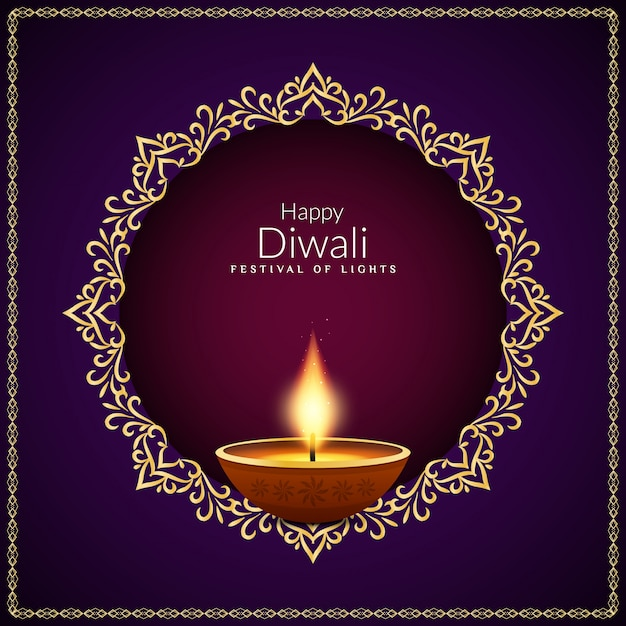 Abstrakcjonistyczny Szczęśliwy Diwali indianina festiwalu tła projekt Darmowych Wektorów