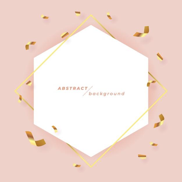 Abstrakcjonistyczny sztandaru szablon na różowym tle. Premium Wektorów