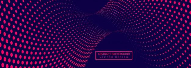 Abstrakcjonistyczny Sztandaru Tło Z łączyć Kropkowanego Projekt Darmowych Wektorów