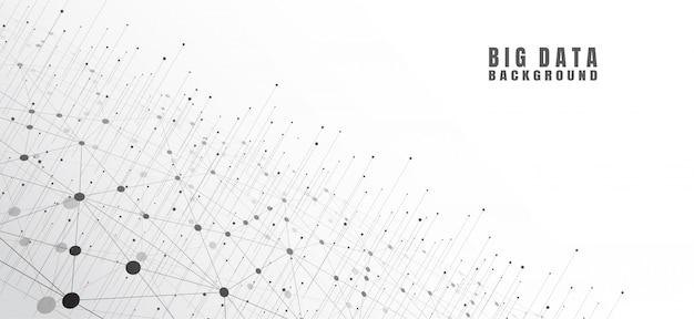 Abstrakcjonistyczny Technologii Tło Z Dużymi Dane Premium Wektorów