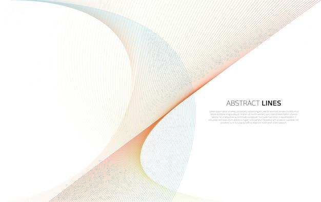 Abstrakcjonistyczny tło luksusowe kolor linie Premium Wektorów