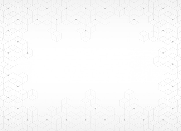 Abstrakcjonistyczny Tło, Tekstura Z Szarym Sześciokątem, Wektorowa Ilustracja Premium Wektorów