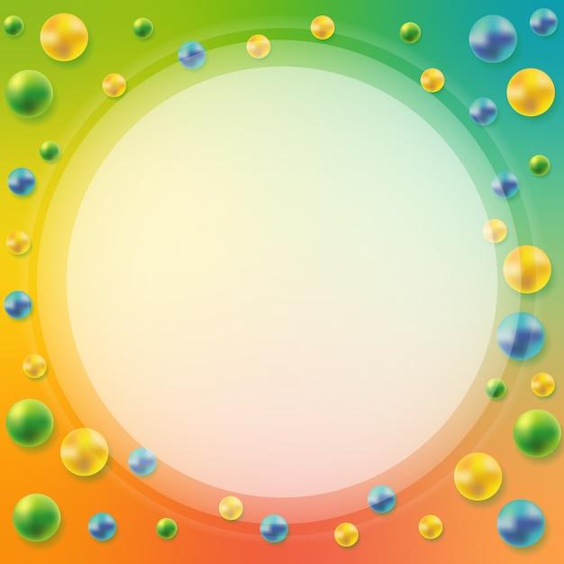 Abstrakcjonistyczny tło z 3d sferami. element dekoracyjny Premium Wektorów