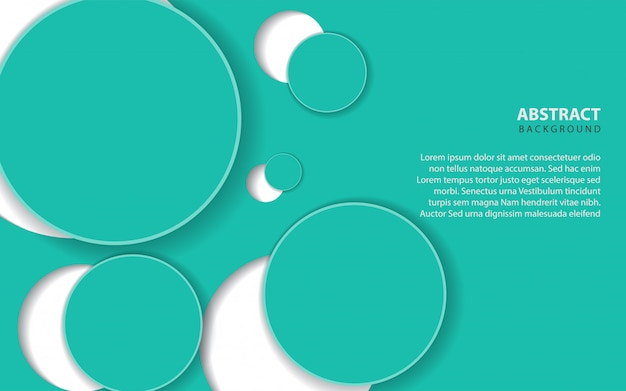Abstrakcjonistyczny tło z błękitnym okręgiem ablegruje dekorację Premium Wektorów