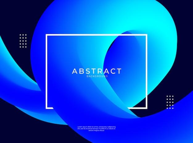 Abstrakcjonistyczny Tło Z Błękitnym Płynnym Kształtem Premium Wektorów