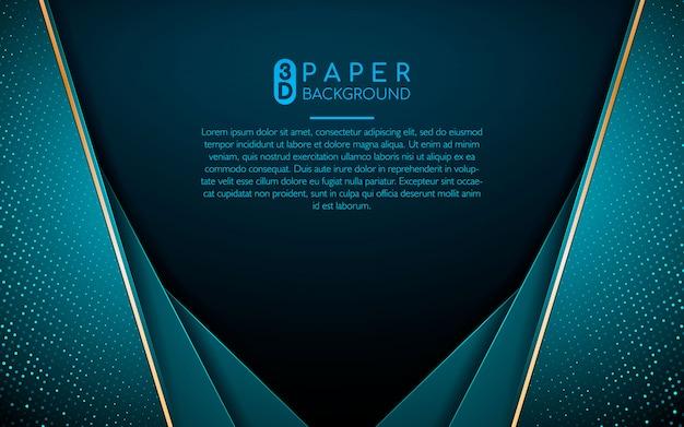 Abstrakcjonistyczny Tło Z Błękitnymi Pokrywa Się Warstwami Premium Wektorów