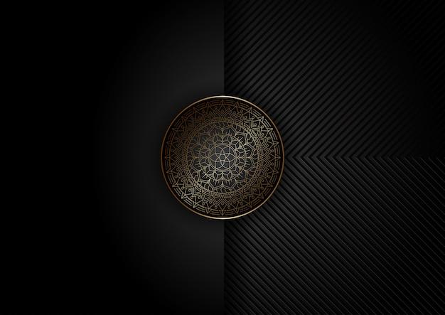 Abstrakcjonistyczny Tło Z Dekoracyjnym Mandala Projektem Darmowych Wektorów