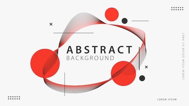 Abstrakcjonistyczny Tło Z Geometrycznymi Kształtami Premium Wektorów