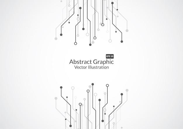 Abstrakcjonistyczny Tło Z Technologia Obwodu Deski Teksturą Premium Wektorów