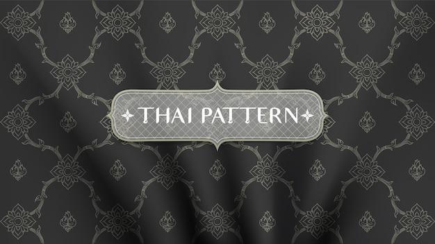 Abstrakcjonistyczny tradycyjny tajlandzki deseniowy tło. Premium Wektorów