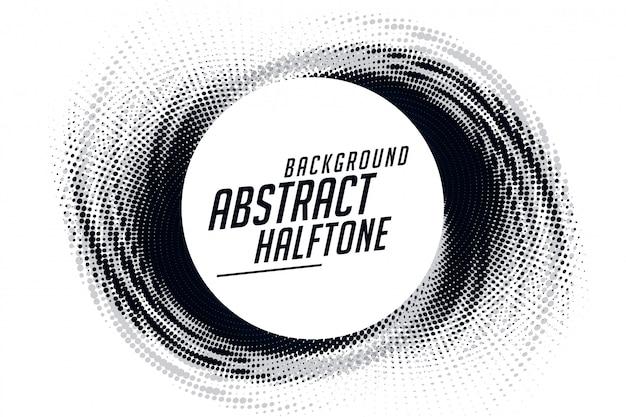 Abstrakcjonistyczny Zawijasa Grunge Halftone Wzoru Ramy Tło Darmowych Wektorów