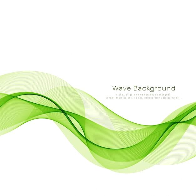 Abstrakcjonistyczny Zielonej Fala Biznesu Tło Darmowych Wektorów